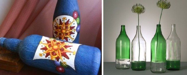 Decorar botellas de vidrio